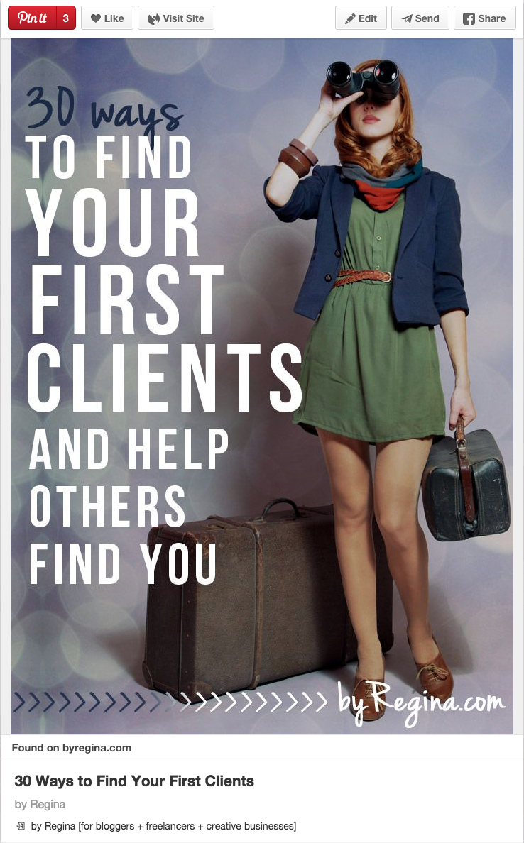 30 Ways to find your first clients by Regina