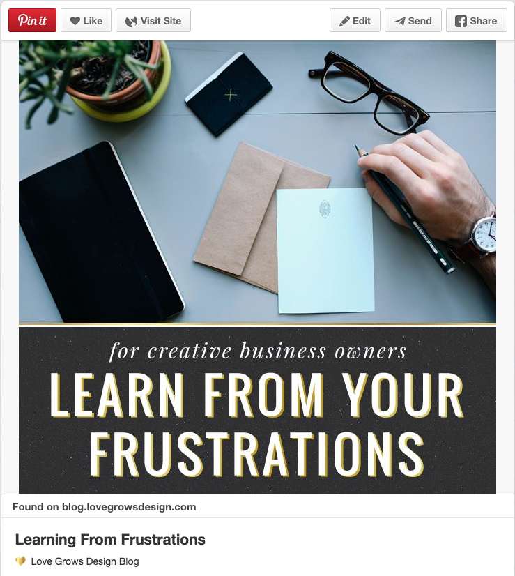 Learn from your frustrations by Love Grows Design