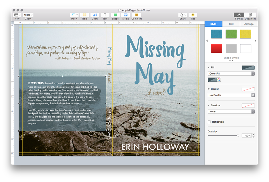 How to Design a Book Cover in Apple Pages