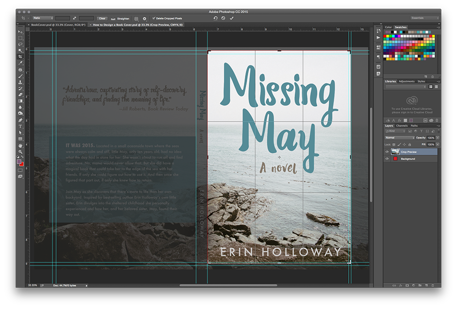 How to Make a Book Mockup in Photoshop - Crop down your book cover