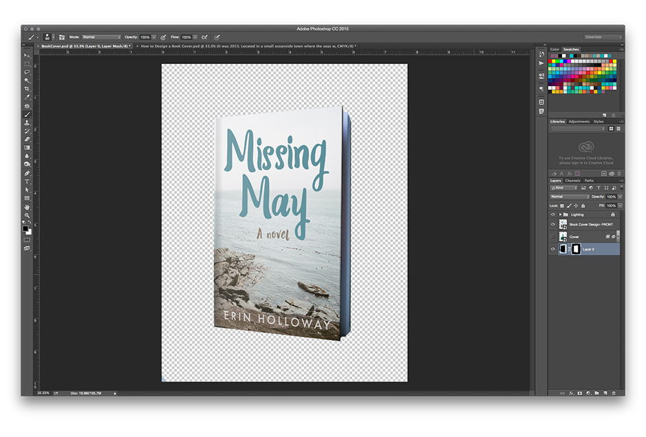 How to Make a Book Mockup in Photoshop - Masking out the background
