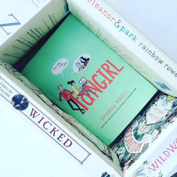 It's a book cube! Photo by Jenny from Blots and Plots