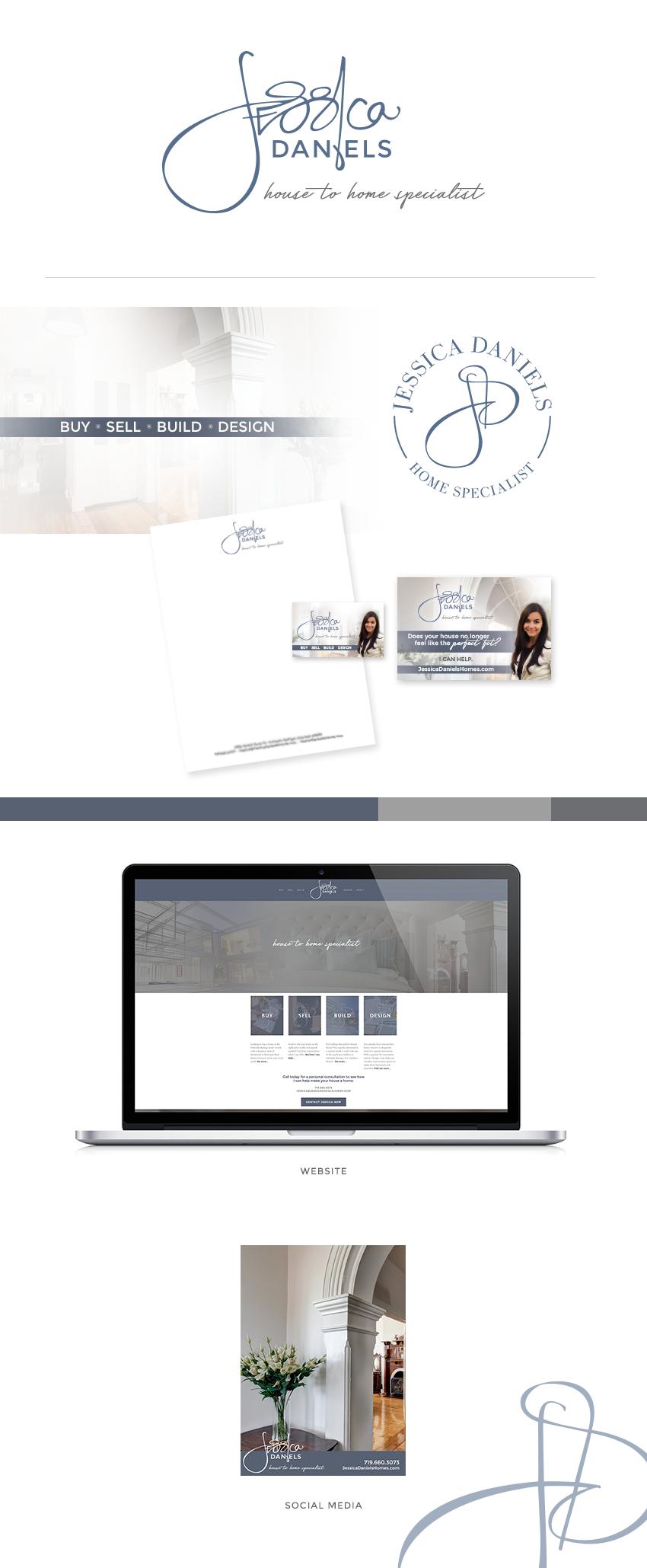 Jessica Daniels, Realtor, brand design in Colorado Springs, CO