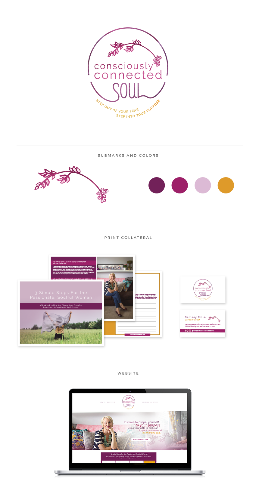Consciously Connected Soul brand, graphic design by Finicky Designs