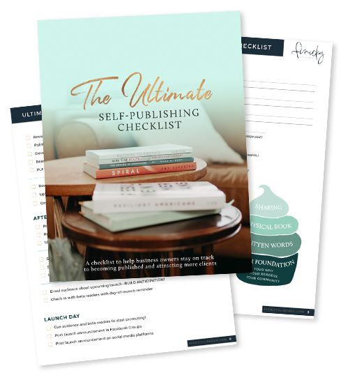 The Ultimate Self-Publishing Checklist for Business Owners by Finicky Fox Design