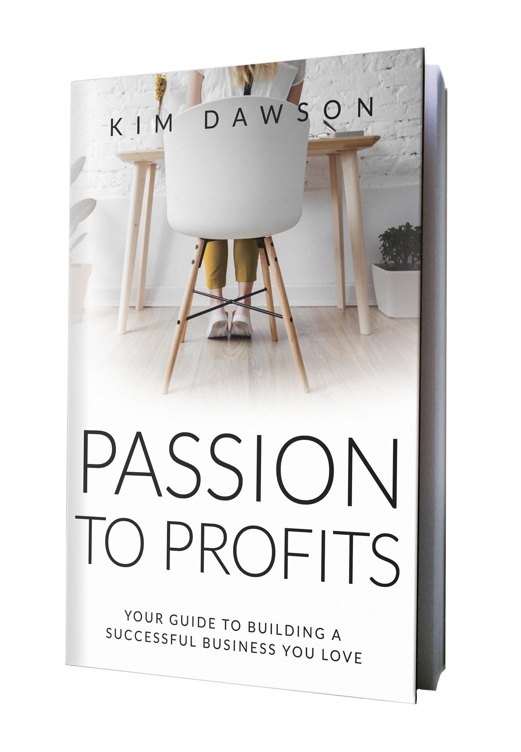Passion to Profits, book cover design
