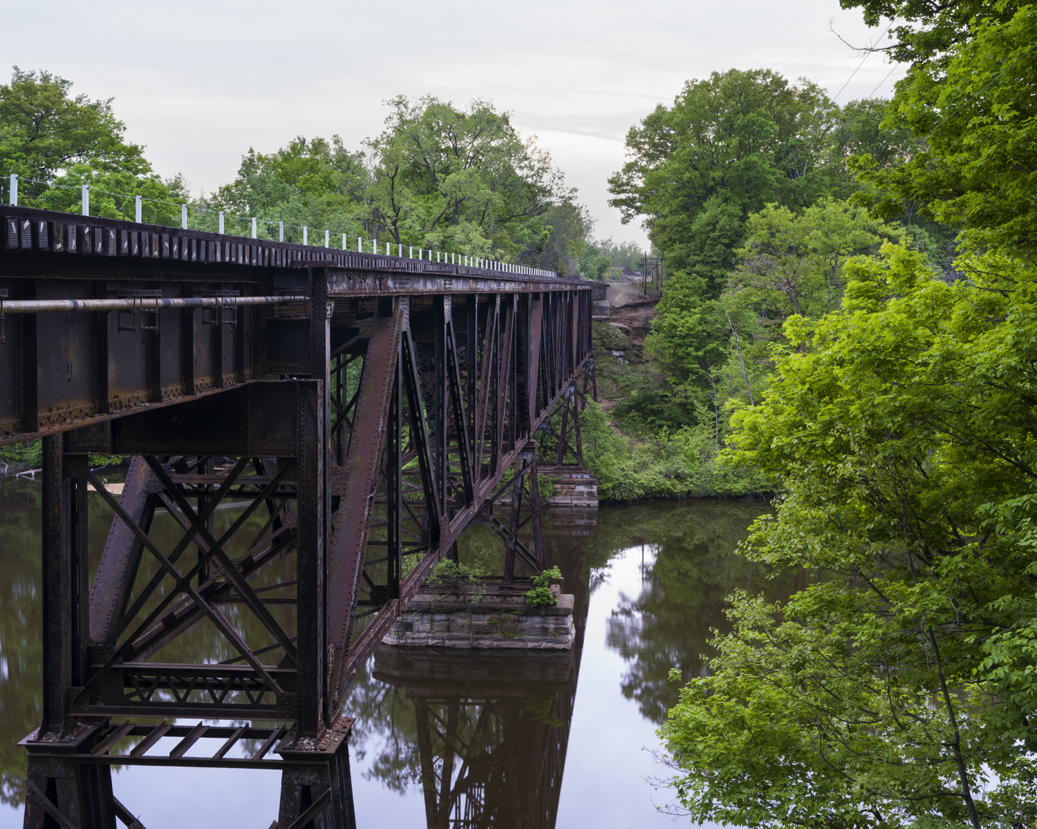 Train bridge over the Grand River near Grand Ledge, MI. 2014
