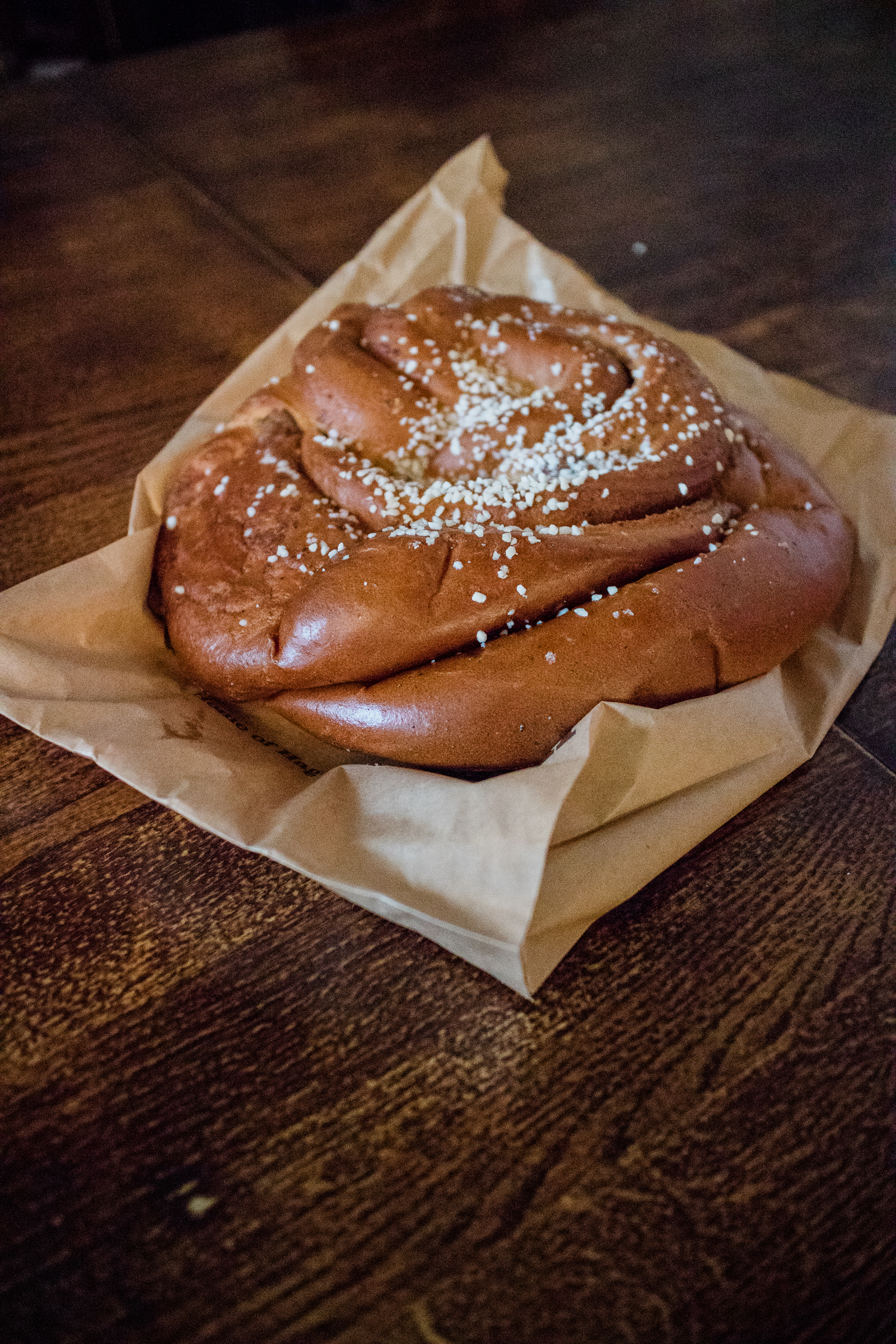 This is a Haga bun! The giant cinnamon bun is a specialty of Café Husaren!