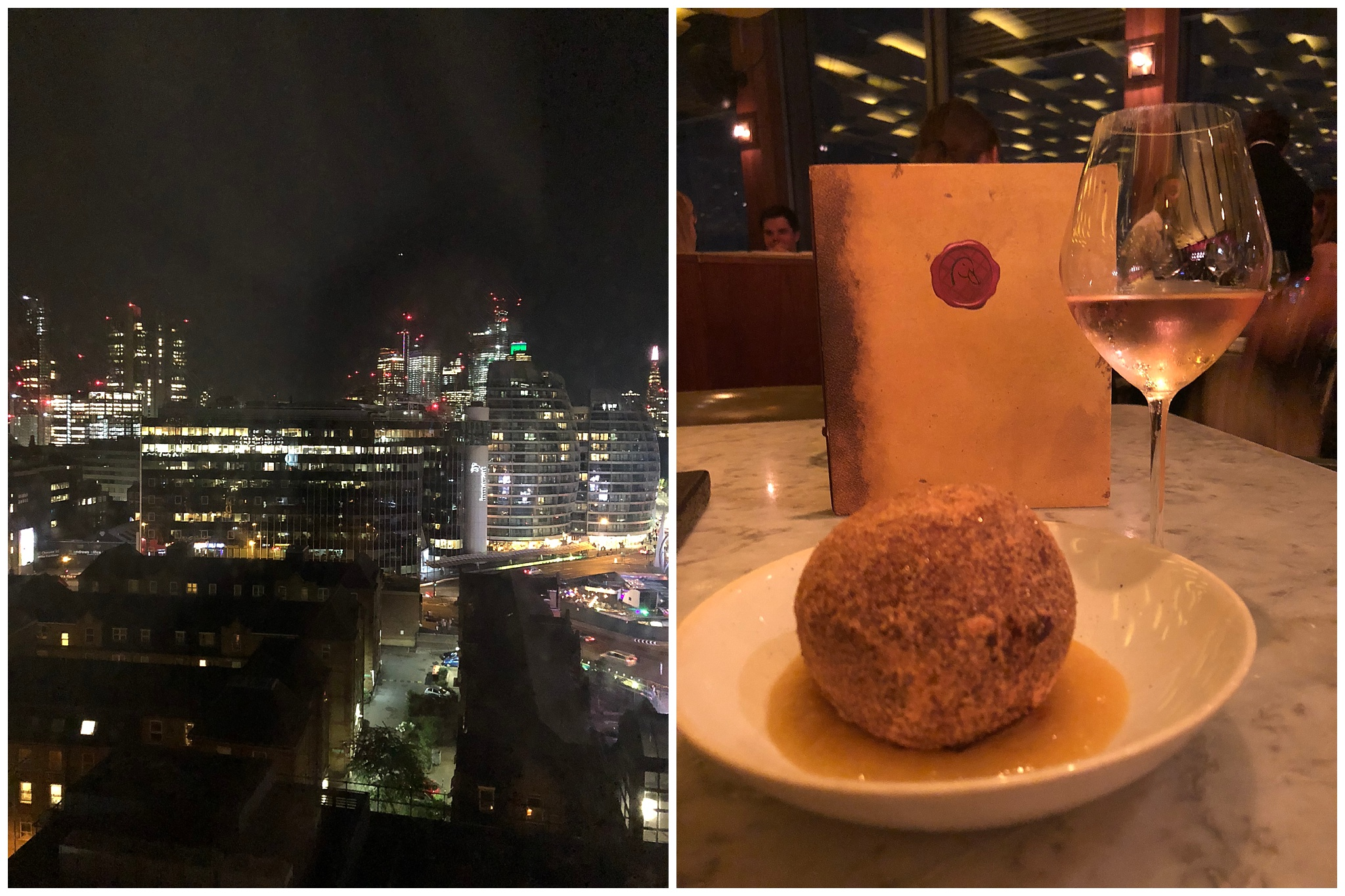 Had a dinner celebrating at Duck & Waffle, a restaurant 40 floors up! Getting me to drink like an adult is a task so kudos to this place for the insane food and yummy wine ;)