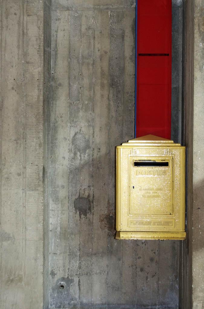 Le Corbusier, Mail Box, The Unite d' Habitation, Marseille