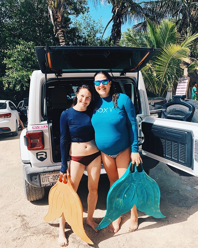 This mama right here...💓 My sweet friend Fatima. I am so incredibly lucky to have you in my life. Our biannual dinners and giggles and girl talk and mermaid swims (66% of the time when you're 8 months pregnant) and Tulum yoga classes always remind me how people who live far away from each other and who seem to be on different trajectories are often meant to cross paths and be in each other's lives in big ways. I can't wait for our next dinner out in Tulum, next time with new baby! I can't wait to meet her. 💓