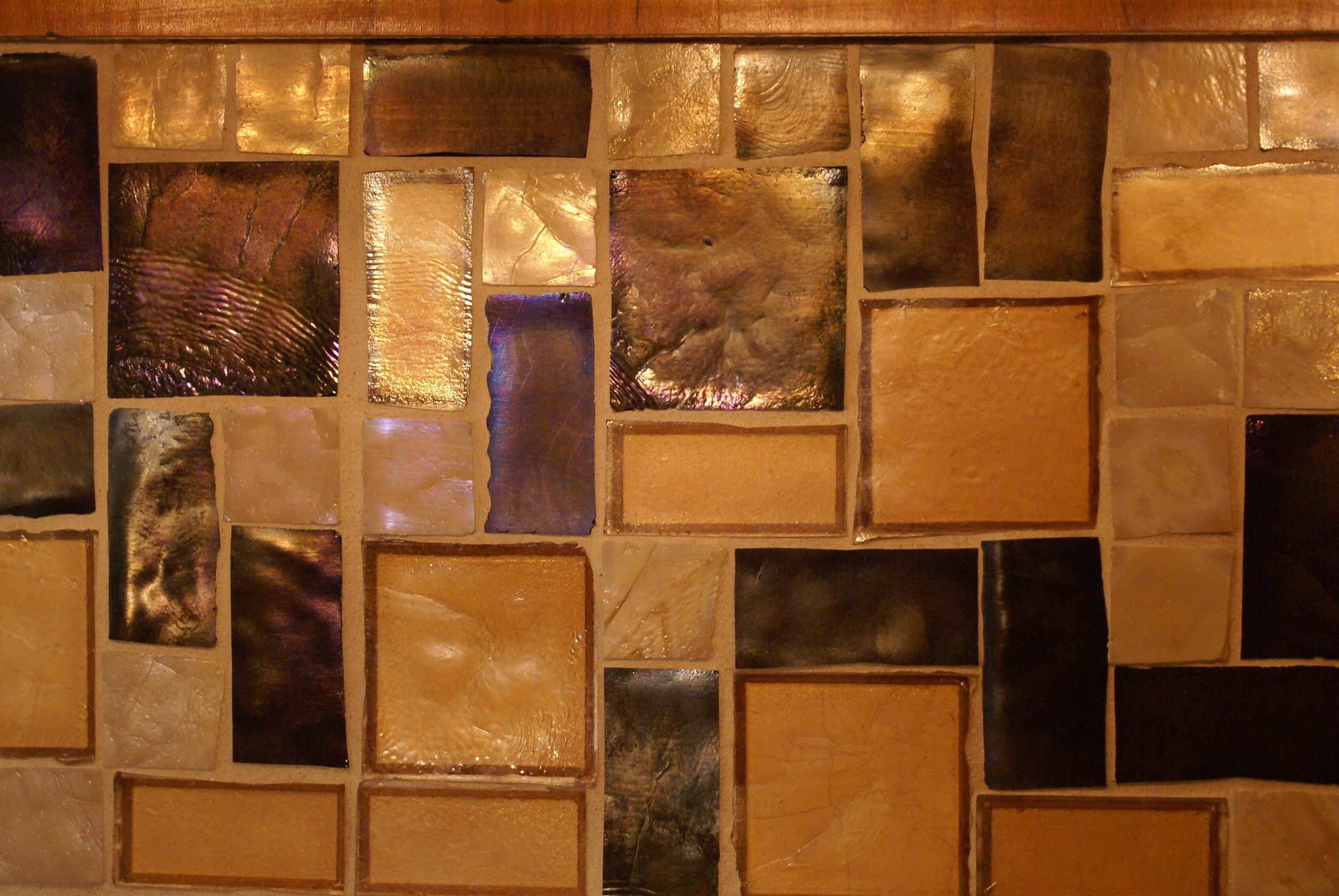 Close up of backsplash glass mosaic.JPG