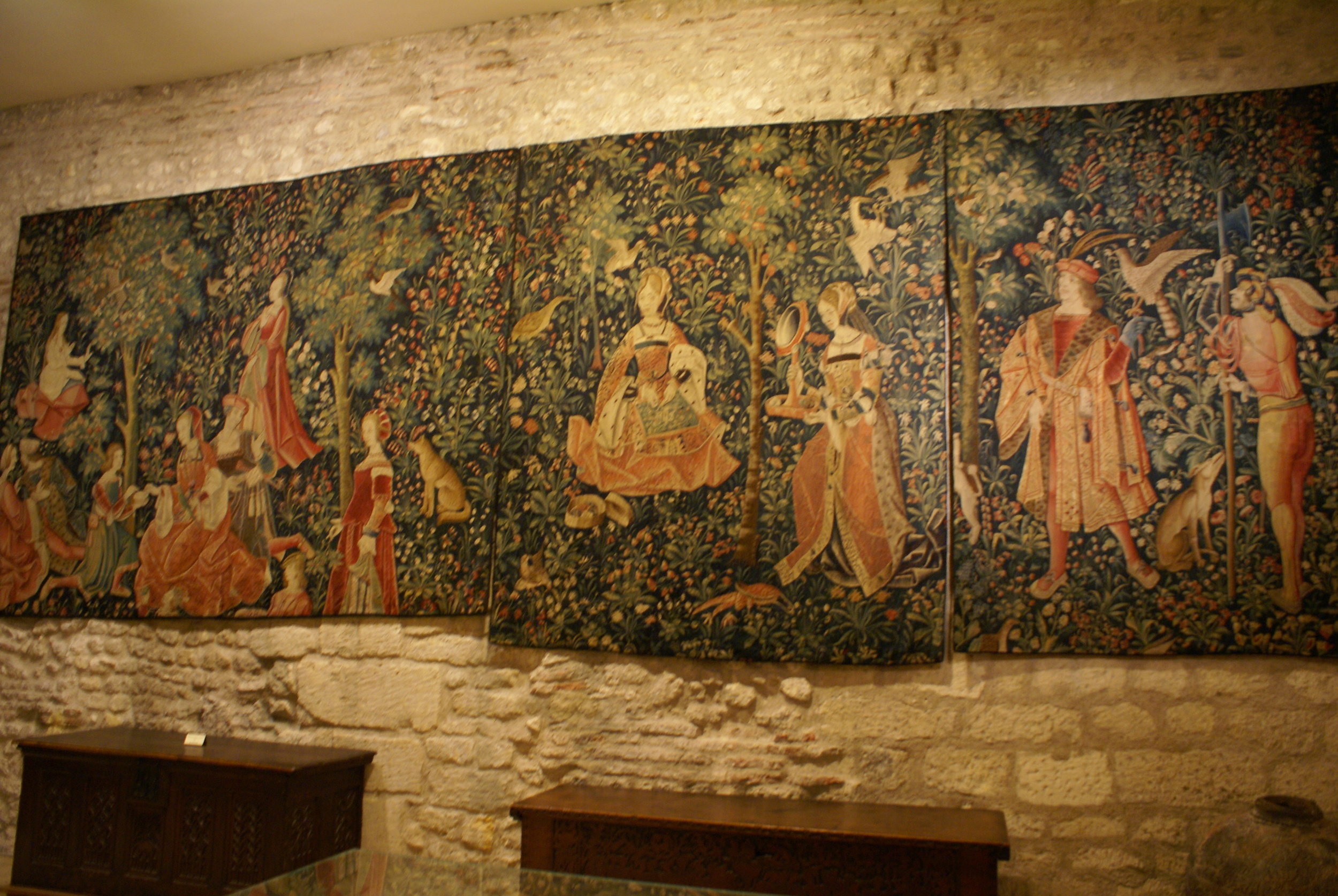The Stately life, set of 6 tapestries in the Cluny