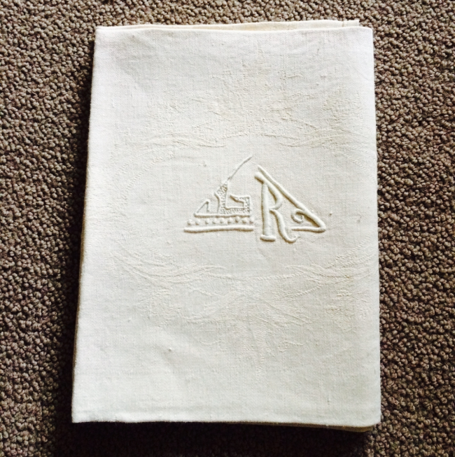 Monogrammed French Tea Towels  - never used!