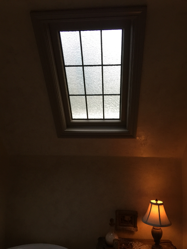 A mundane skylight became romantic