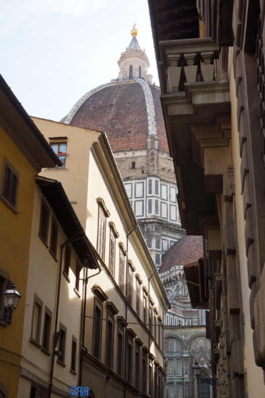 The Duomo peeking out.....