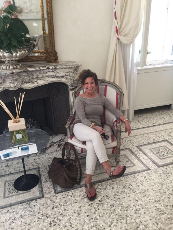 The lobby of Villa Vedetta