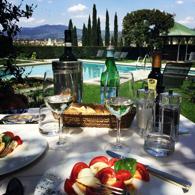 The pool at Hotel Villa Vedetta