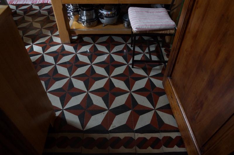 Laura's kitchen floor