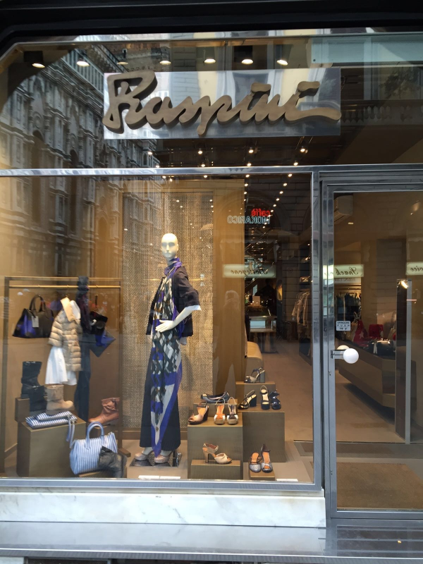 One of my favorite stores for higher-end clothing and shoes:  Raspini