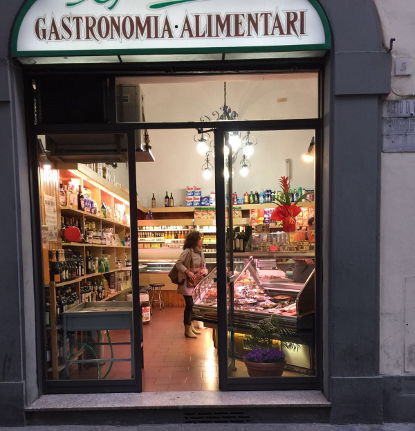 Shops like these are everywhere. This was me provisioning on our first night in Florence.