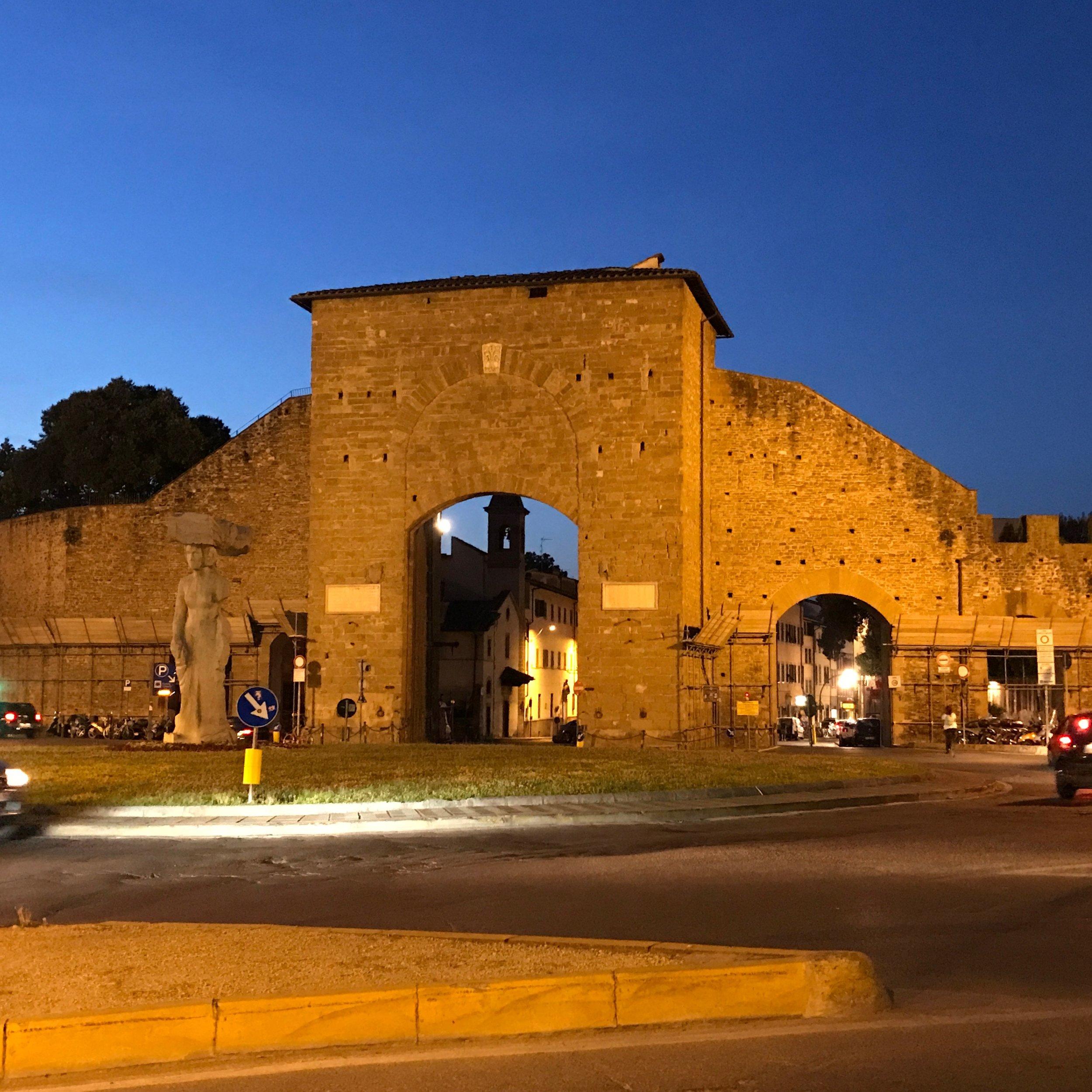 Porta Romana, the Florentine gate toward Rome