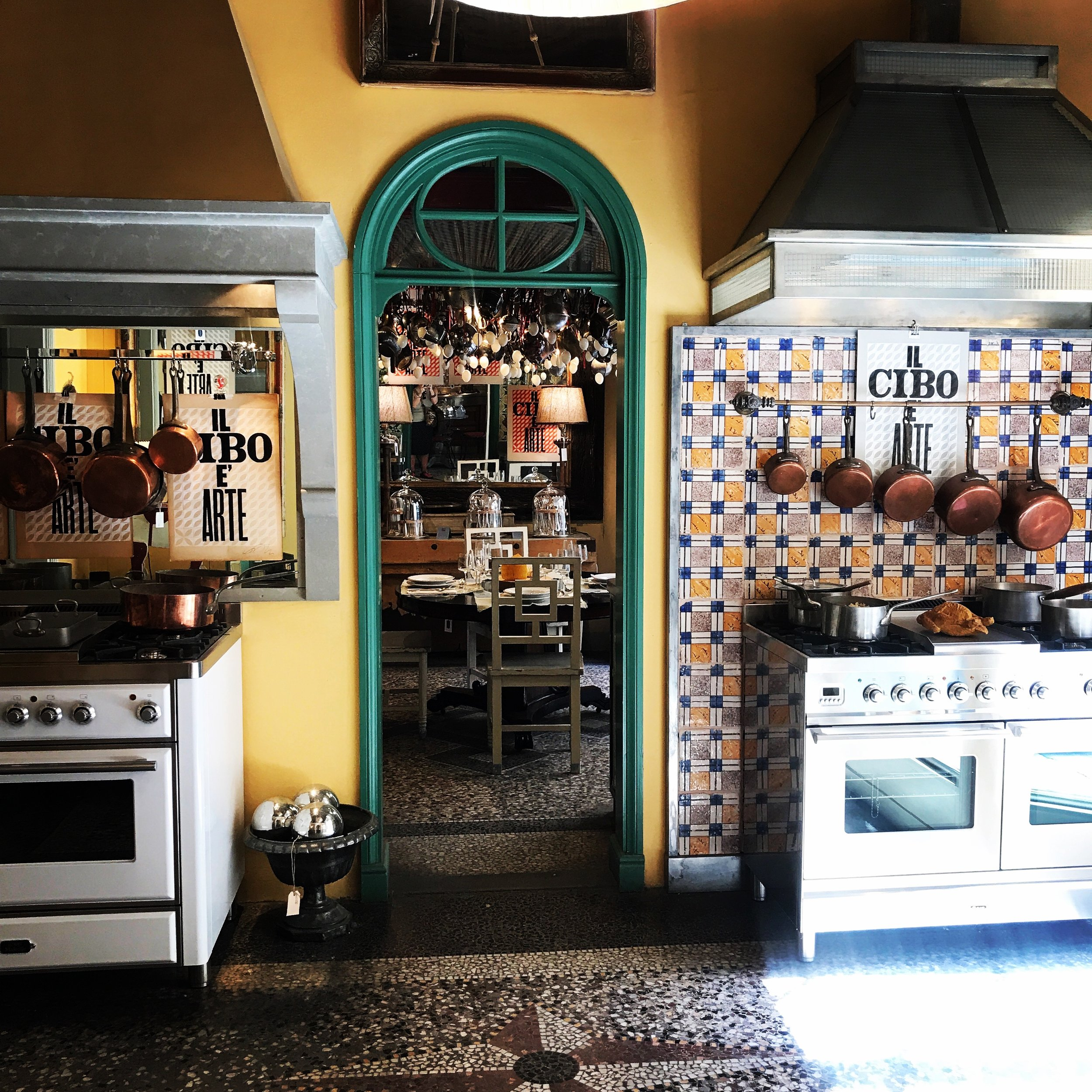 This home store is so amazing I could live there! Kitchen and bath cabinets and fixtures, tile, fabric, cooking lessons in the fully-equipped kitchen - everything!  Riccardo Barthel  on via Romana.