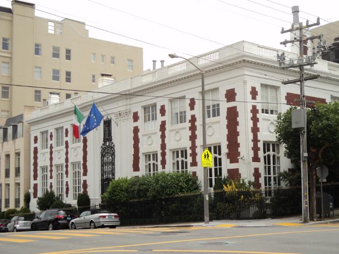 The Italian Consulate in San Francisco's Pacific Heights neighborhood