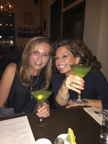 Leslie and I love these basil-infused drinks at Bar Cantinetta