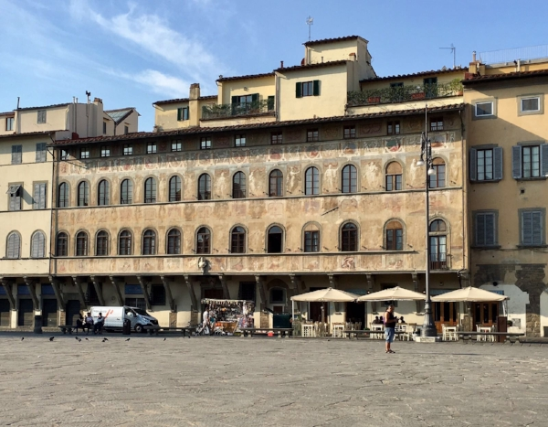 Our apartment building on Piazza Santa Croce