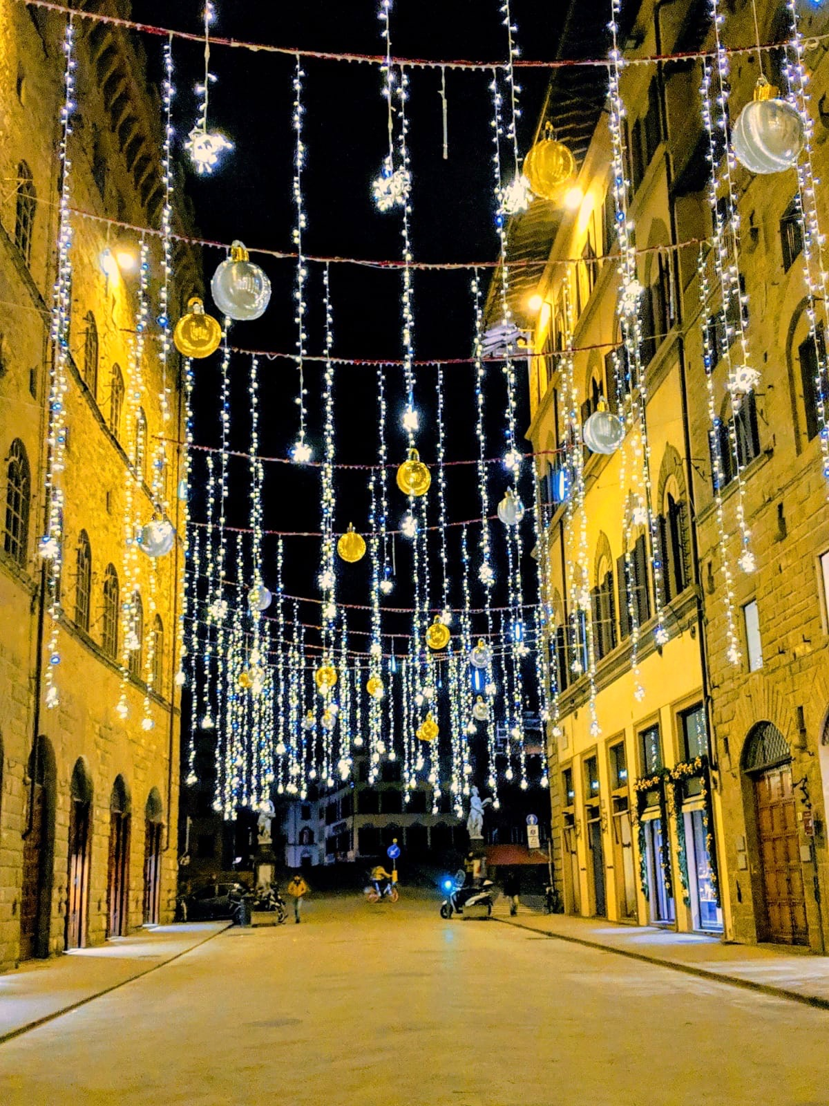 Via Tornabuoni, home to fabulous luxury fashion houses, such as Gucci, Ferragamo, Prada, and many more. Photo taken by Nick.