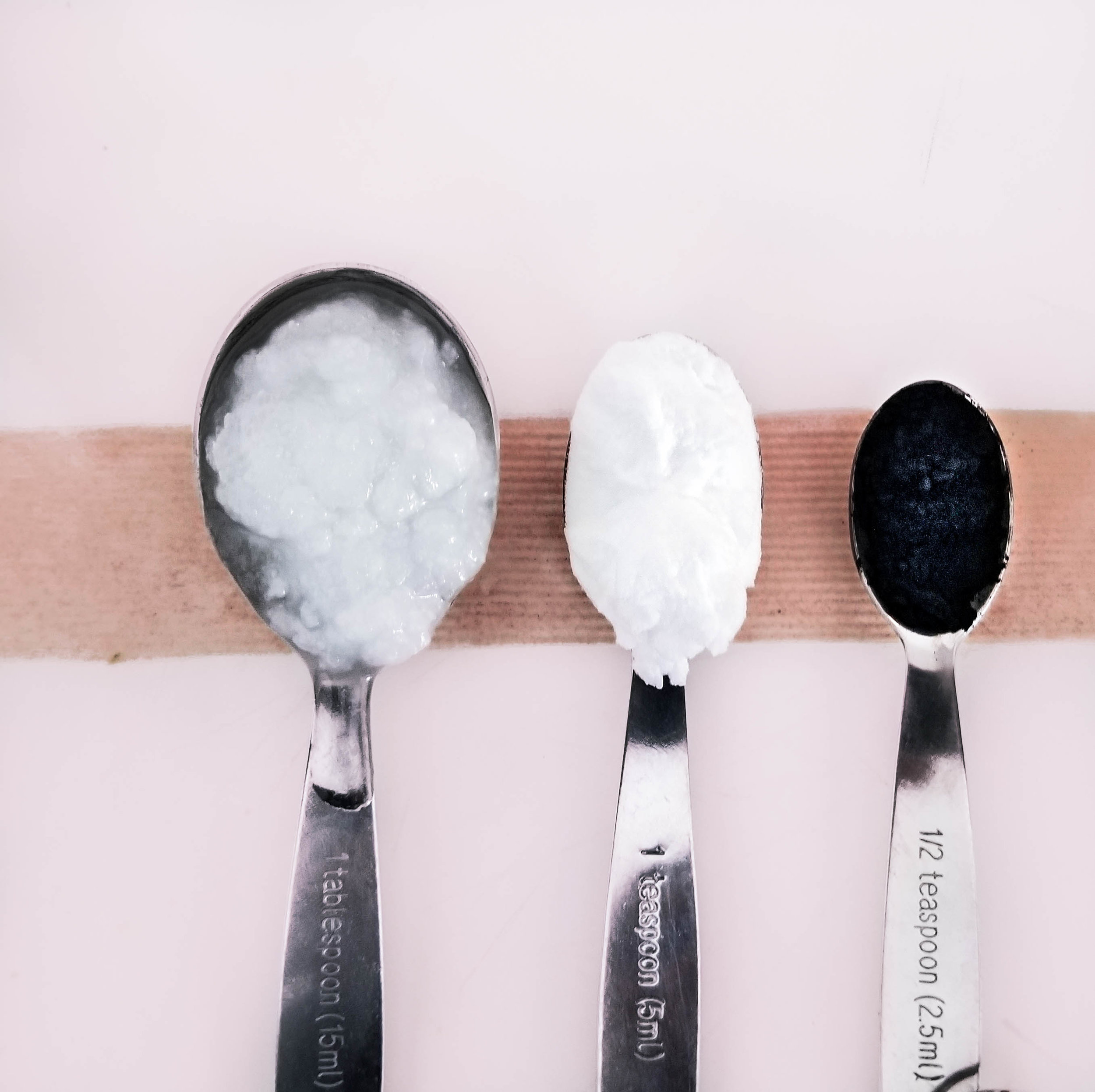 baking soda, virgin coconut oil, and activated charcoal for beauty and teeth whitening
