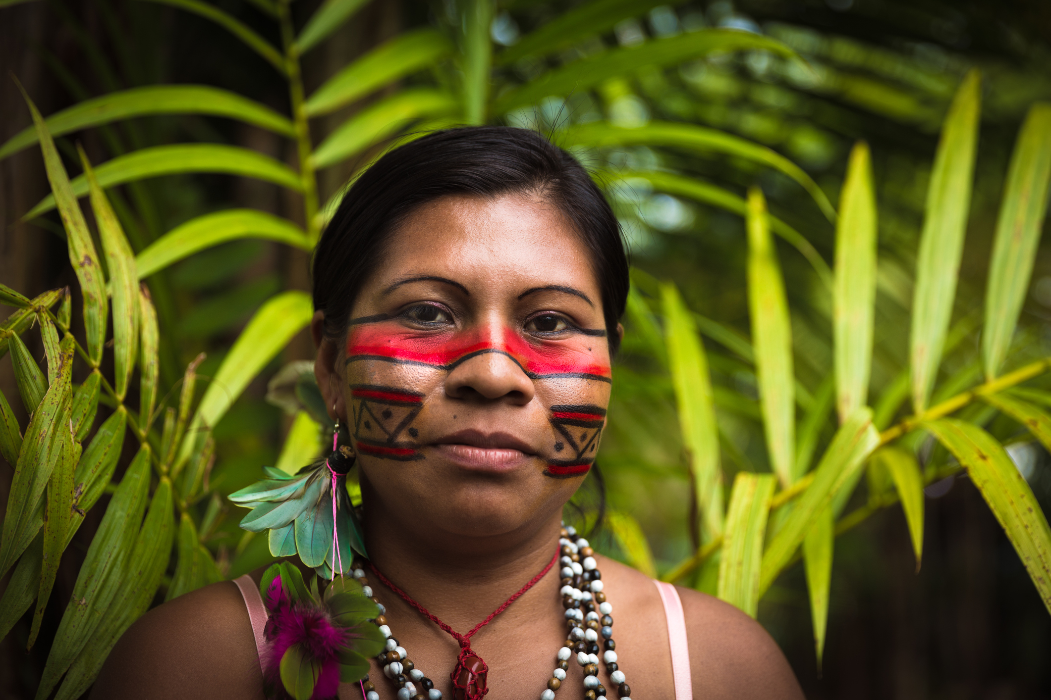 Woman from Tupi Guarani tribe in Manaus, Brazil by filipefrazao