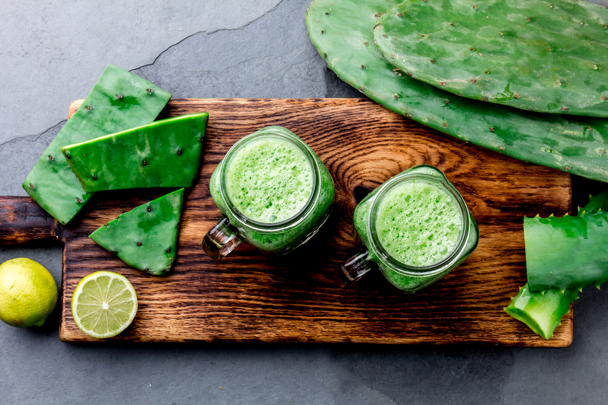 Cactus Juice - Women from Mexico are using the cactus' juice to heal their skin from sunburns, re-hydrate the dermal layer, and detoxify the pores.
