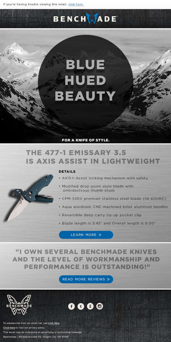 Benchmade email