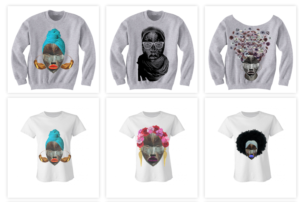 West African inspired t-shirt designs from  DOPECIETY .