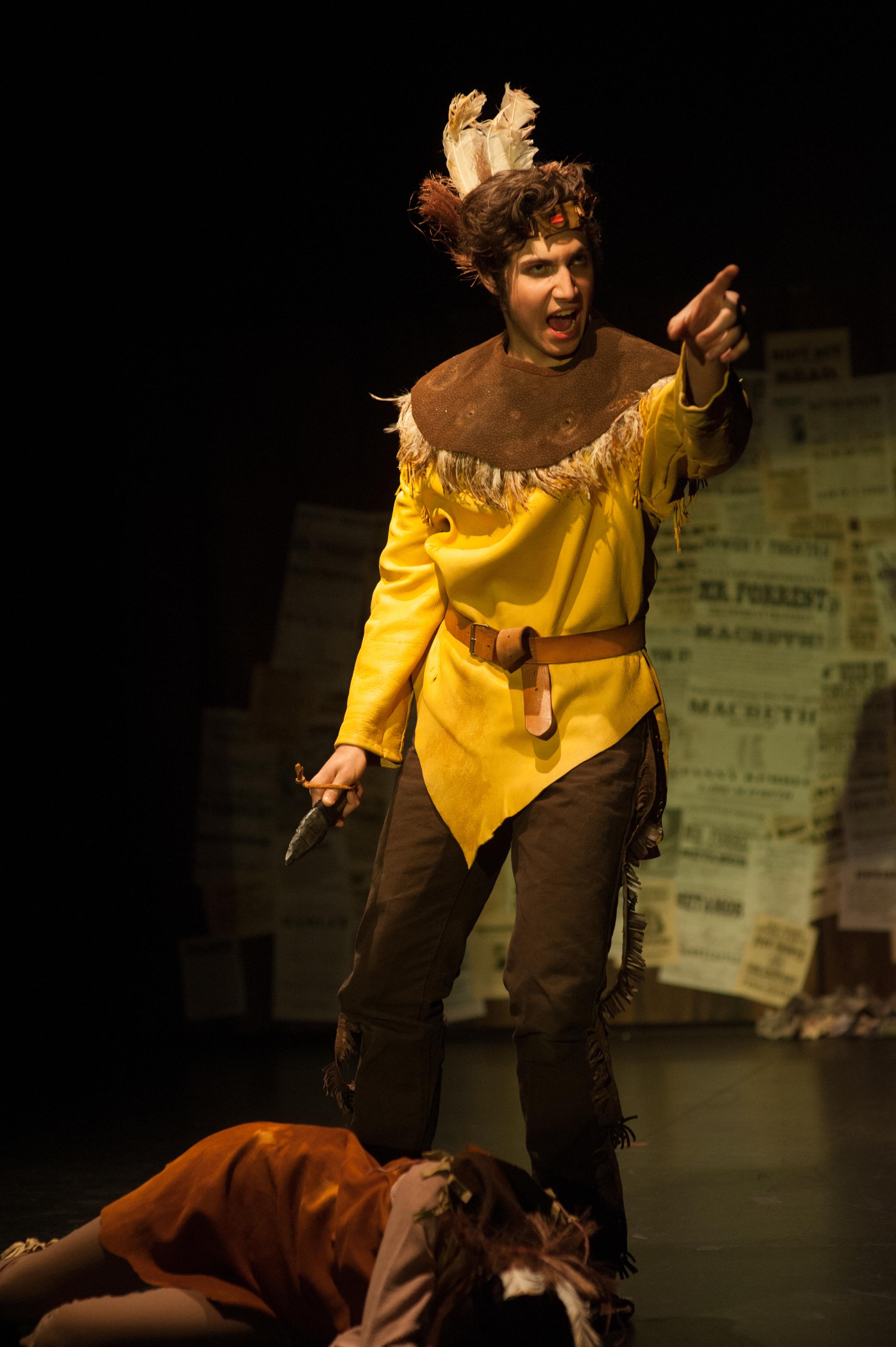 Edwin Forrest as Metamora in American Shakespeare Riot