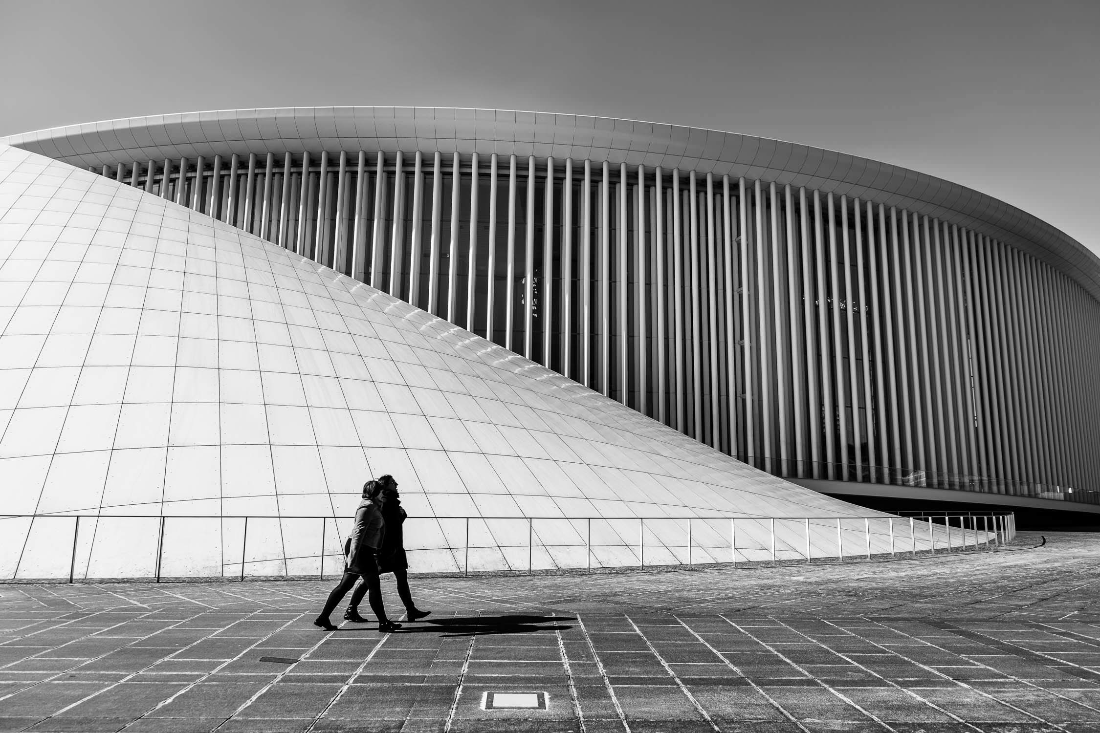 Street Photographer in Luxembourg | Catalin Burlacu Photography | www.ishootcolors.com | Luxembourg Philharmonie