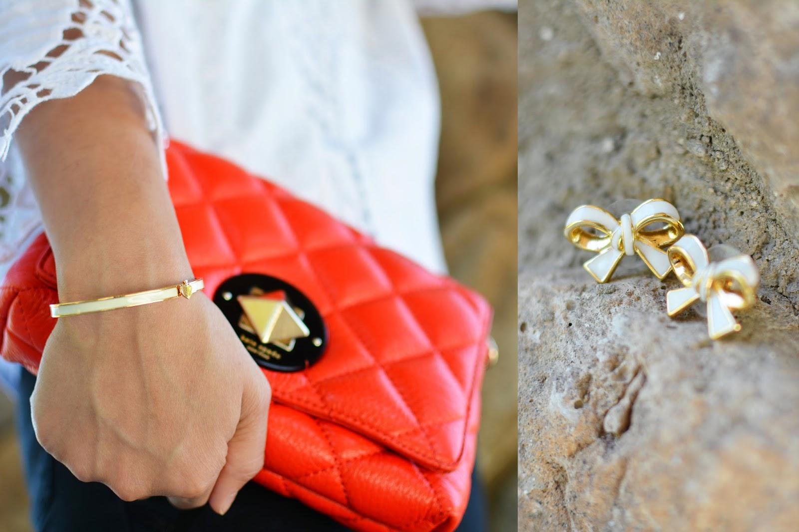 Kate Spade Purse and Earrings