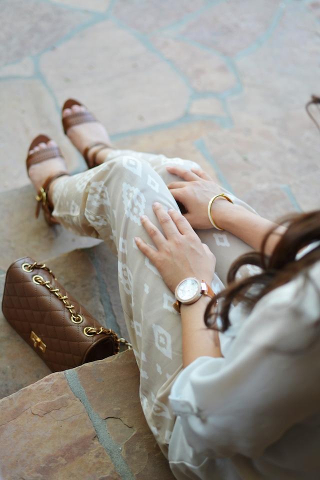 Aztec print, lounge pants, neutral, summer style