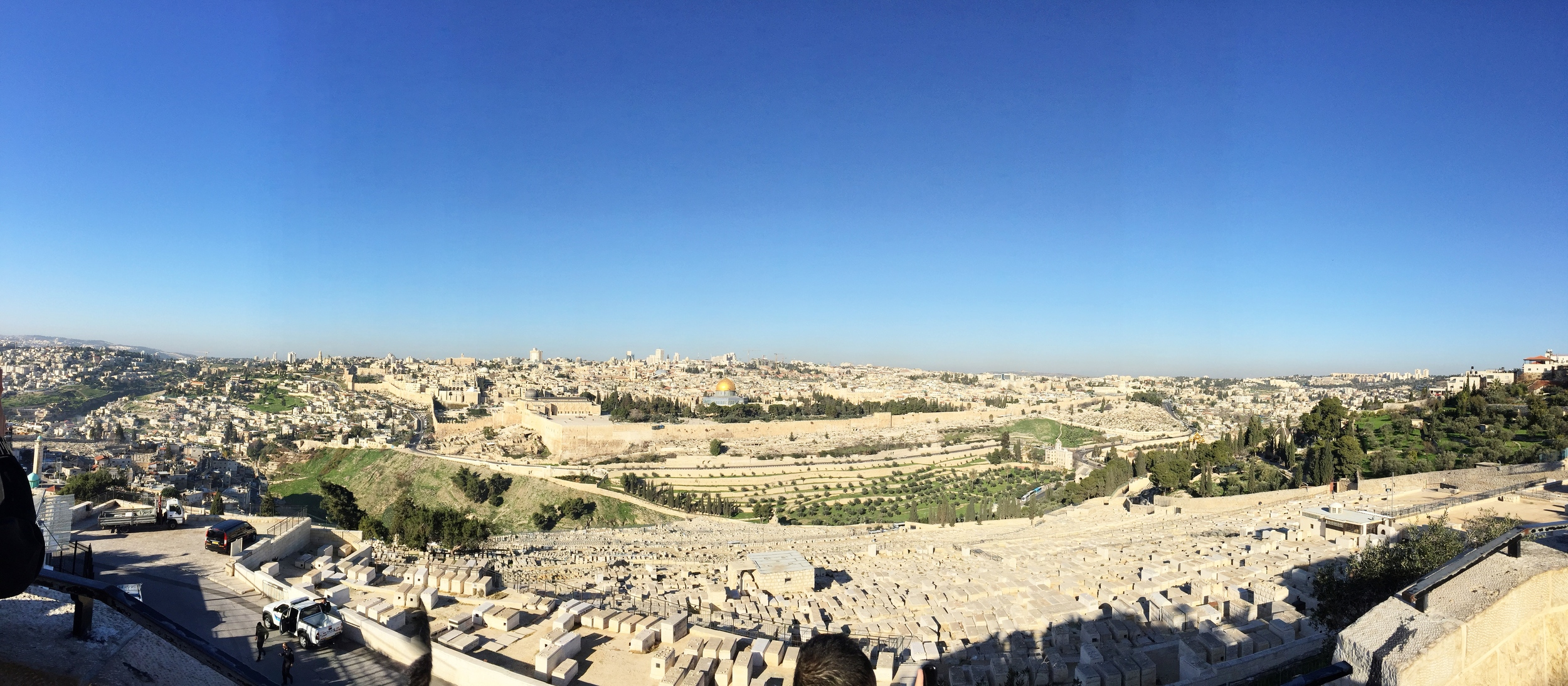 View of Jerusalem from the top of Mount Olive