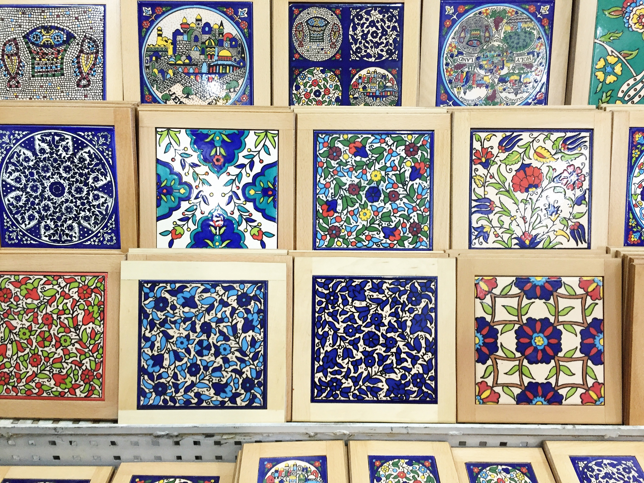 Hand painted tiles | We got to witness these and other pottery items being made and painted in person! So lucky that we got to bring some home as a small reminder of the trip.
