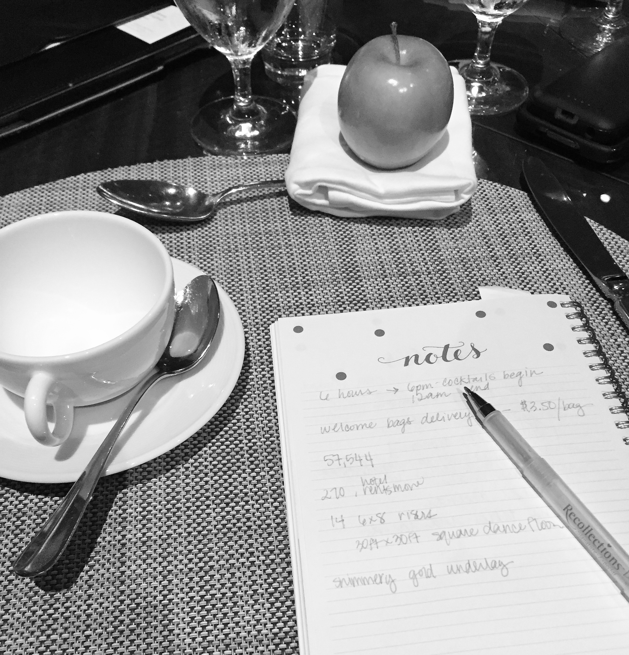A snap from the venue-finalizing meeting!