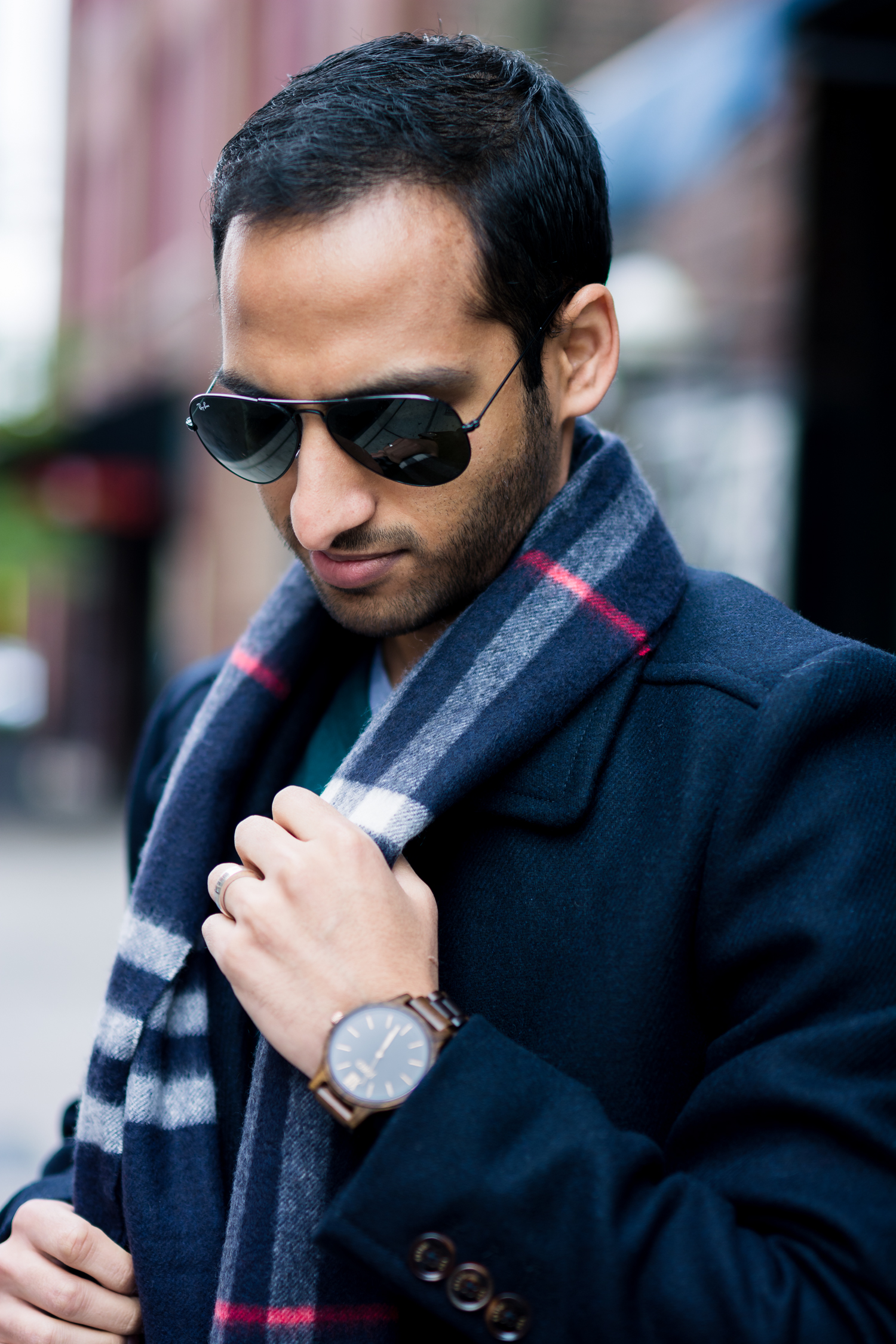 JORD Watch and Burberry Scarf