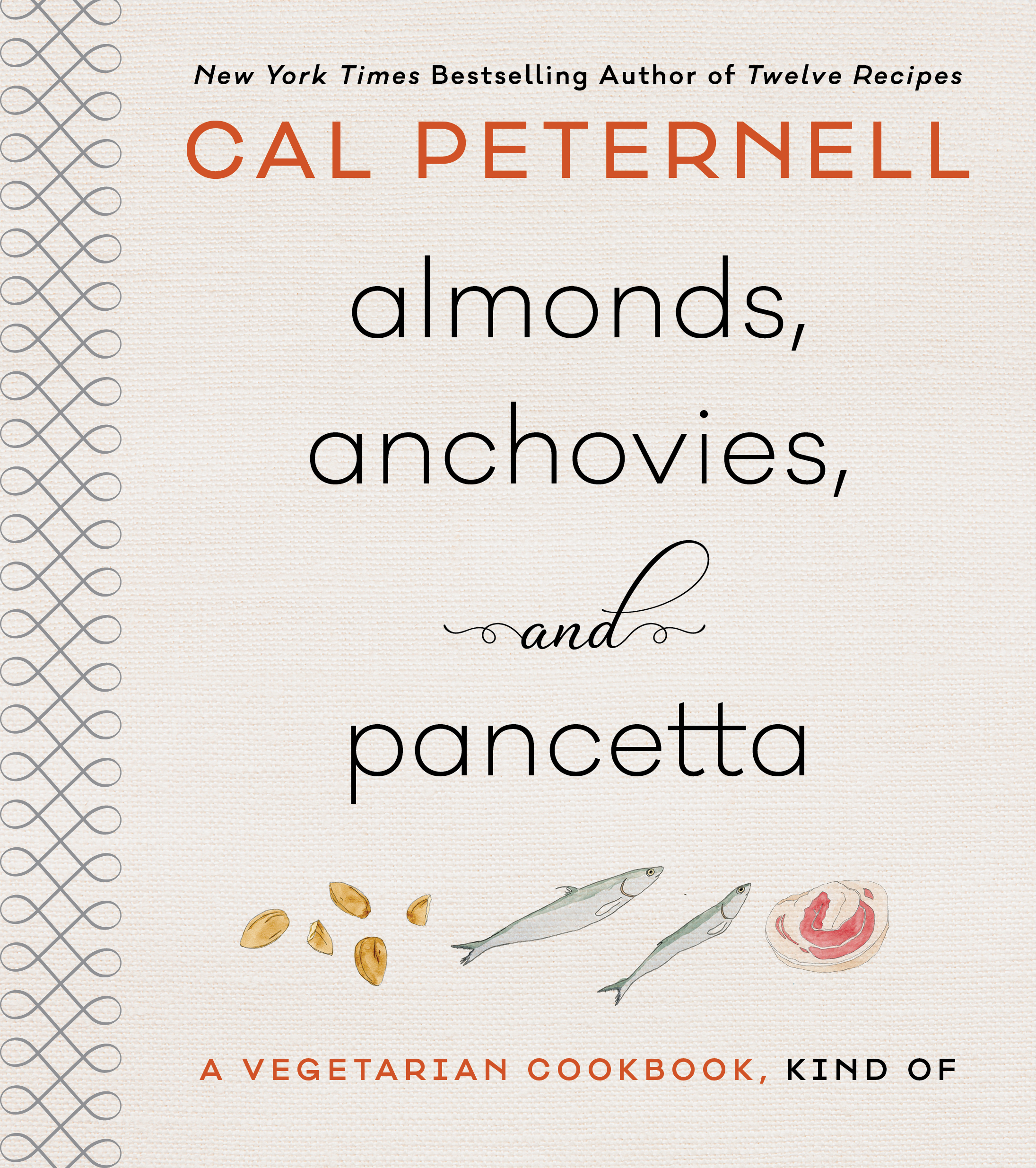 "ALMONDS, ANCHOVIES, AND PANCETTA - ""In short, it's an extremely good read, with recipes that have a charmingly loose-limbed sophistication and range of references, be it the Aleppo pepper flakes in muhammara that trigger a line from Nabokov's ""Ada,"" Caesar-leaning gougères that Peternell developed for a friend in need of a killer morning-after egg dish or a bacon-wrapped potato gratin that's his attempt at ""pushing the bacon envelope by actually making a bacon envelope and stuffing potatoes inside it."" … Peternell explodes the formulaic recipe format, speaking directly and affectionately to his readers to help them use every sense — and every last anchovy — to become better, more instinctive cooks."" - New York Times Book Review, November 2018"