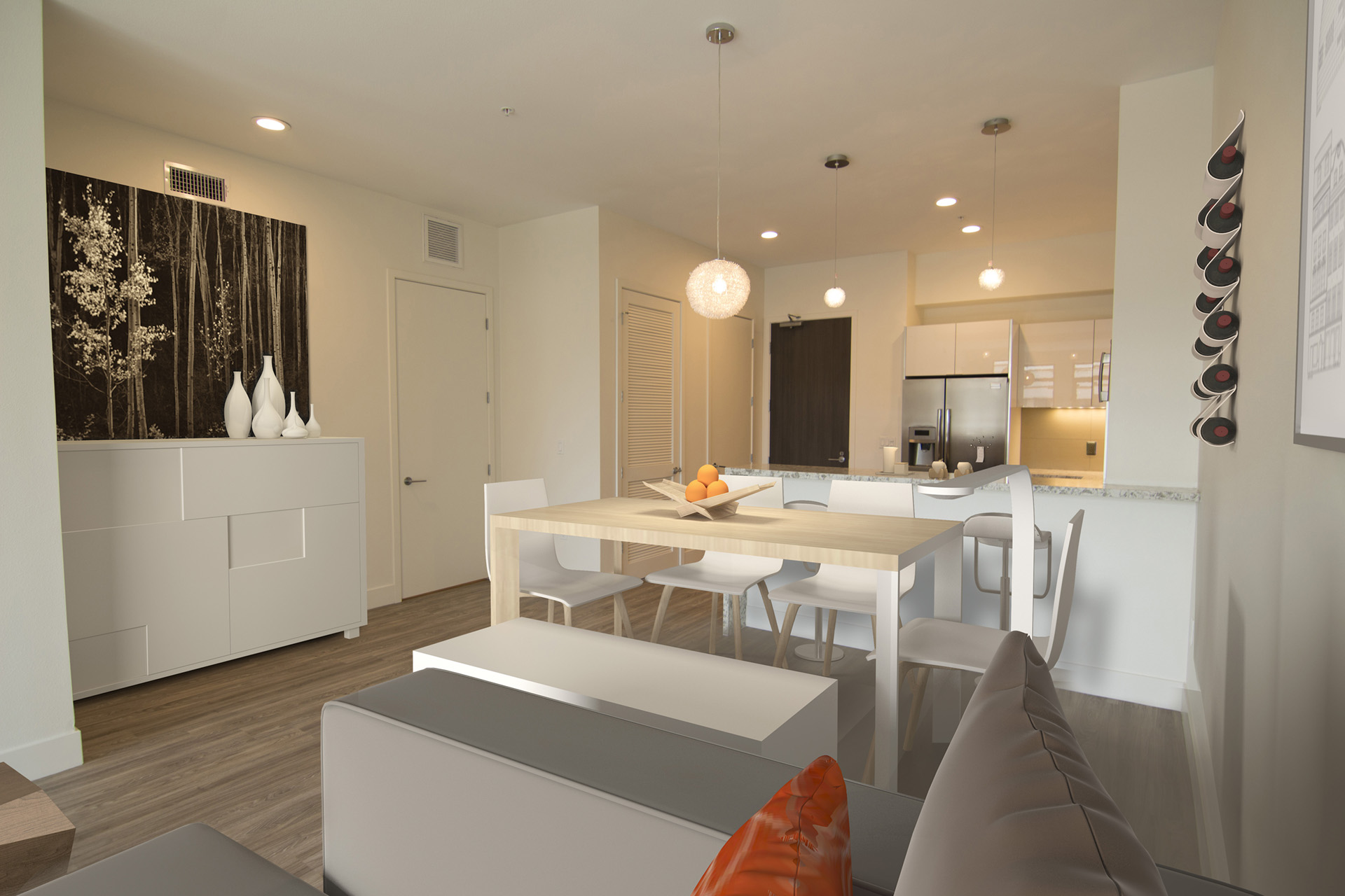 Westwood, Los Angeles Apartments for Rent - Gayley & Lindbrook Luxury Living Area