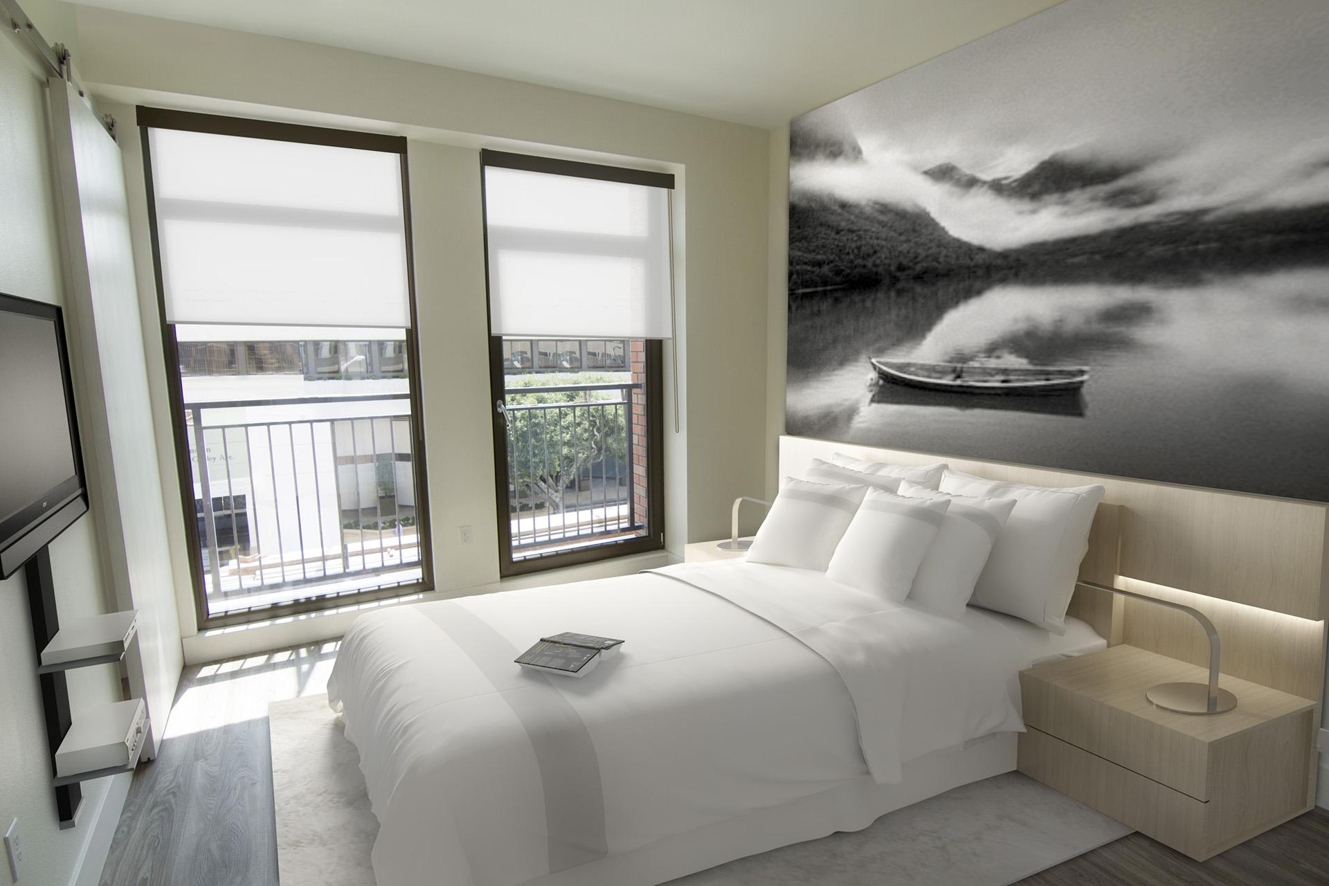Modern One Bedroom Apartments in Westwood, Los Angeles CA - Gayley & Lindbrook Bedroom