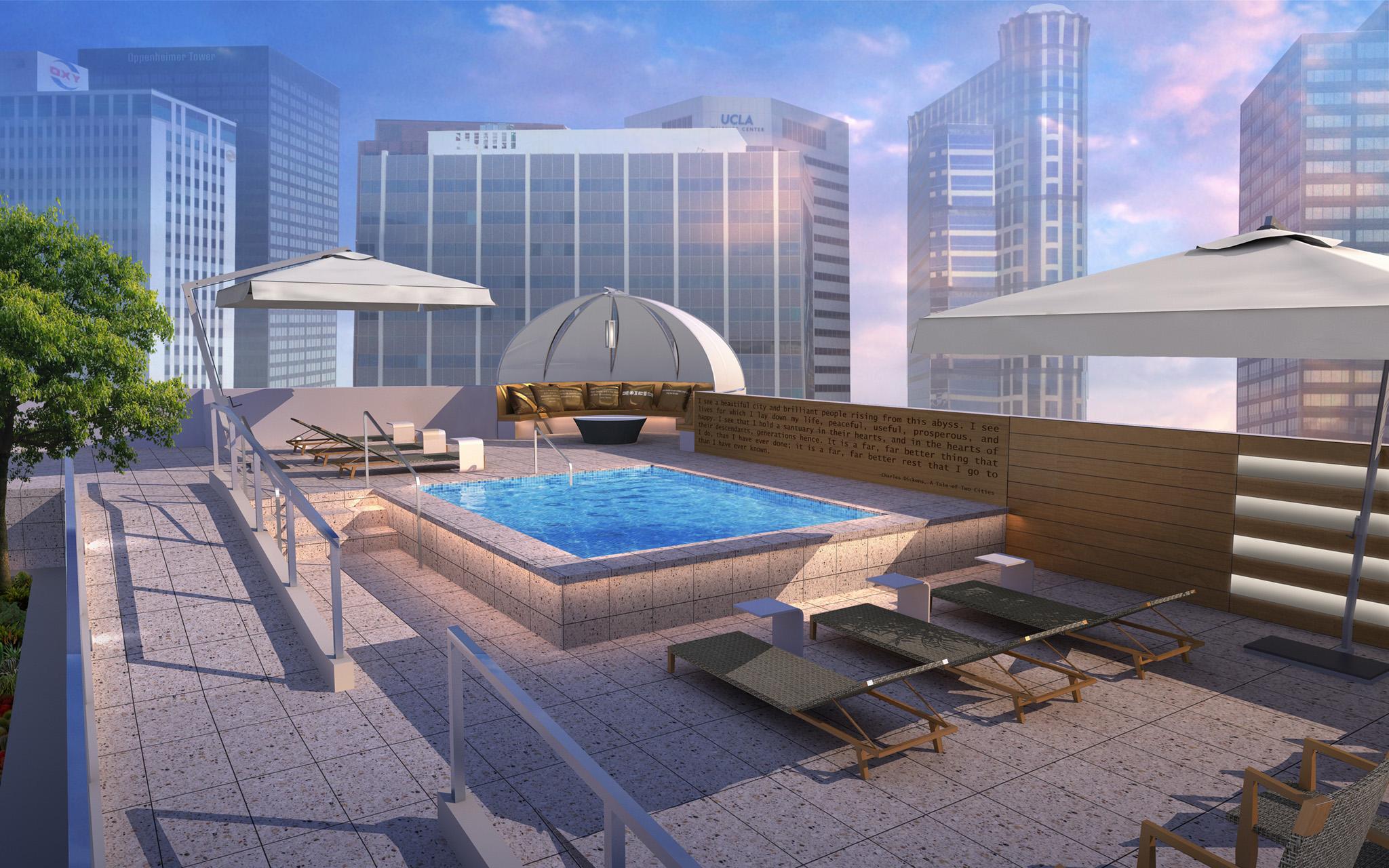 Luxury Apartments for Rent in Westwood, Los Angeles CA - Gayley & Lindbrook Soaking Pool