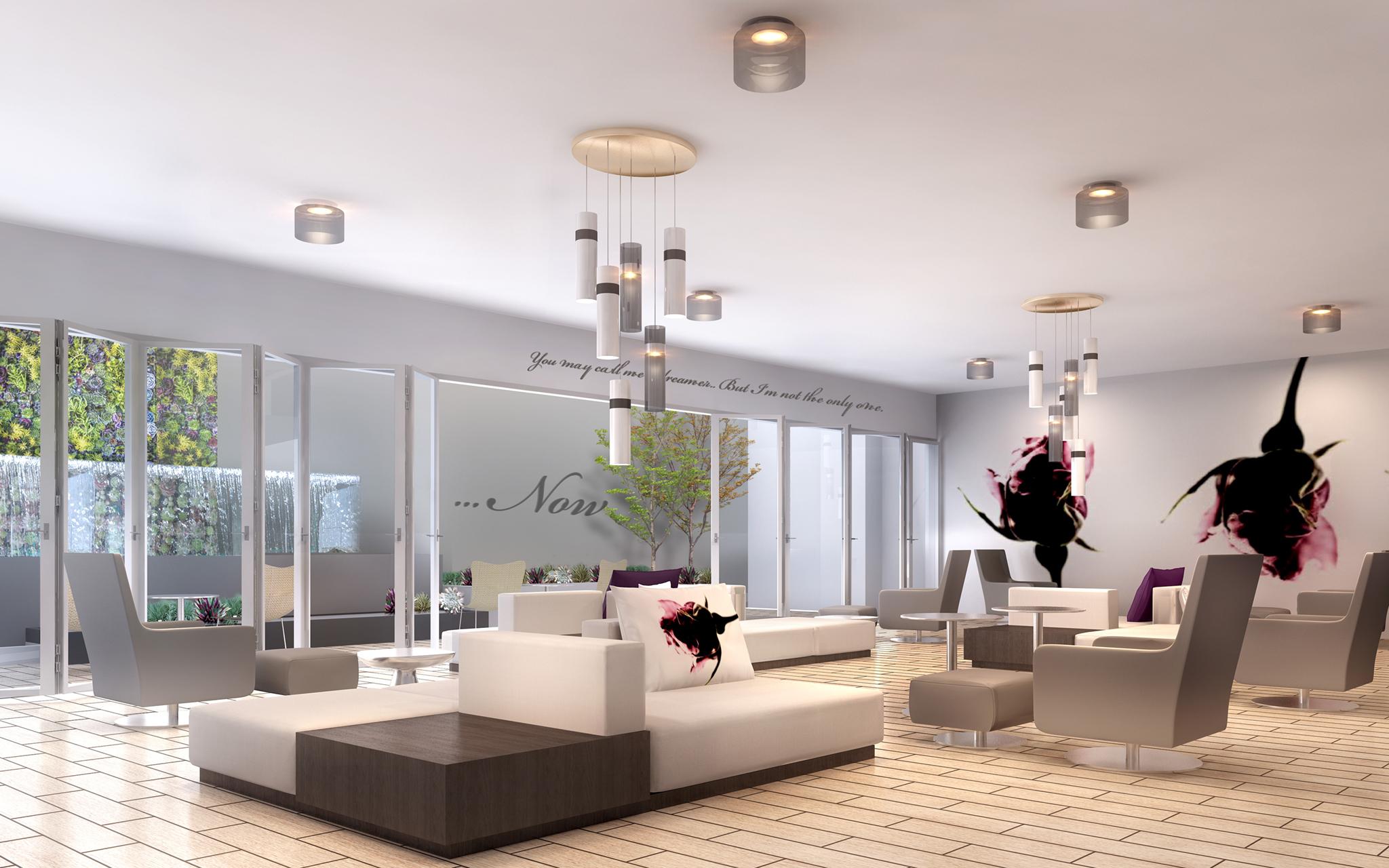Social Room at Gayley & Lindbrook Apartments