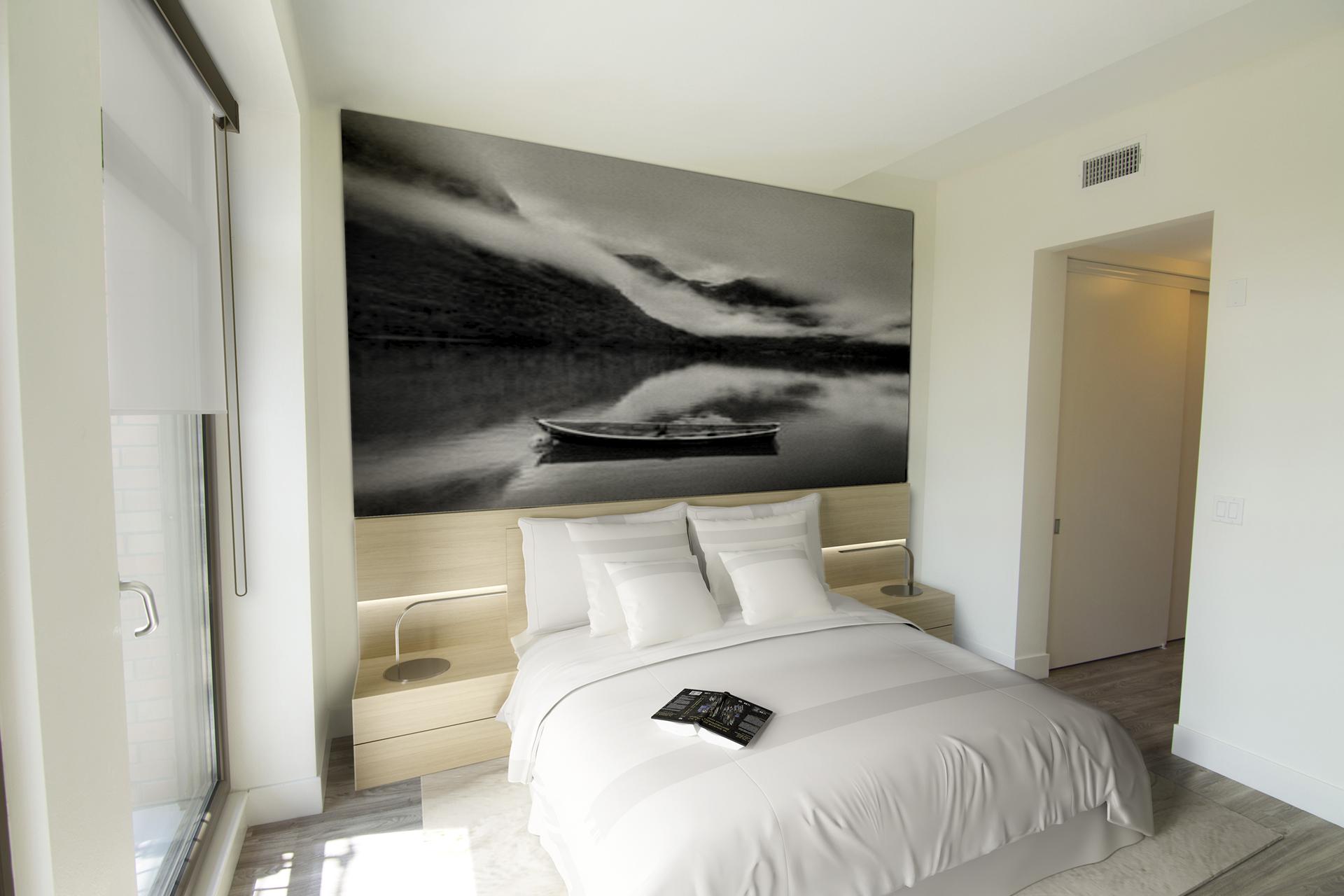 Modern Studio Apartments in Westwood, Los Angeles CA - Gayley & Lindbrook Bedroom